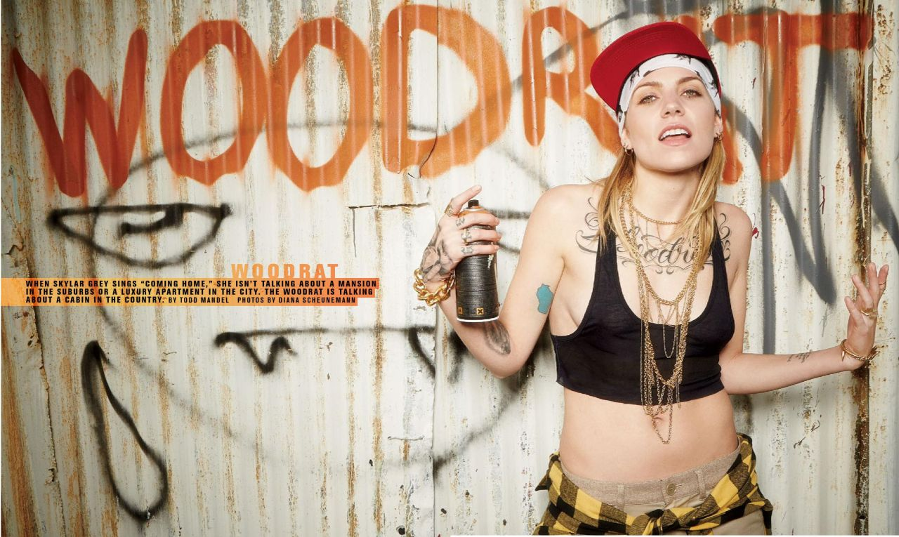 Skylar Grey - Inked Magazine June/July 2014 Issue
