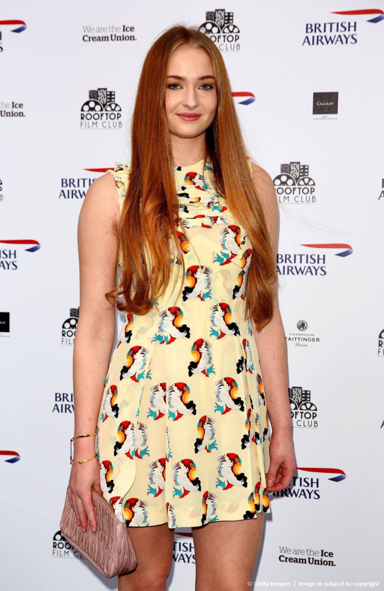 Sophie Turner (GoT) Rooftop Film Club Event + Pradasphere in London - April 2014