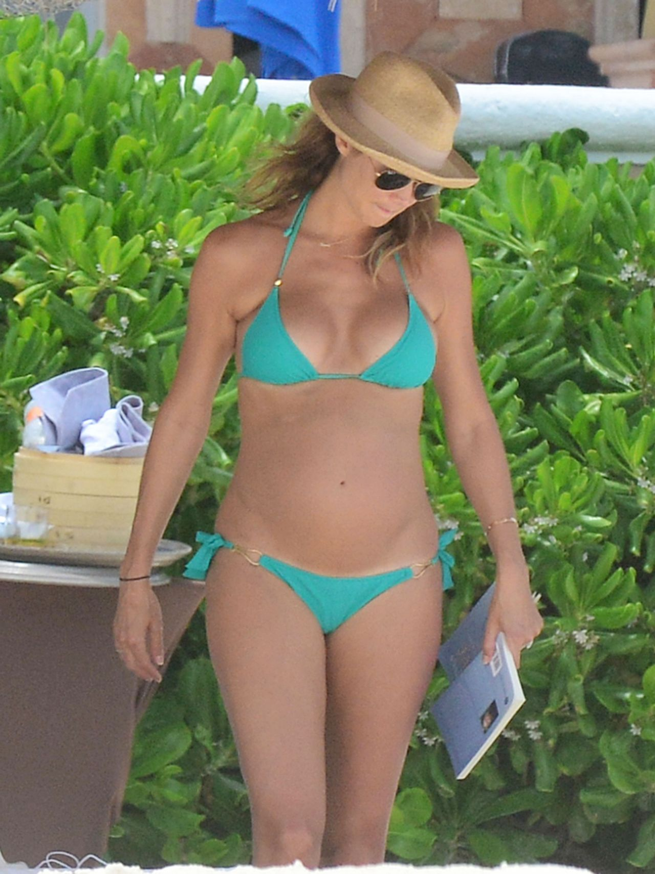 Stacy Keibler Bikini Candids - Beach in Cancun - May 2014