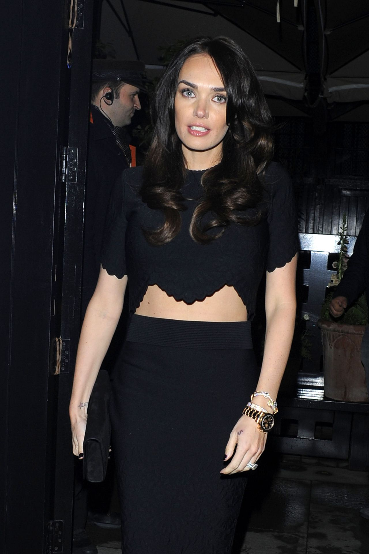 Tamara Ecclestone Night Out Style - Outside the Firehouse in London - May 2014