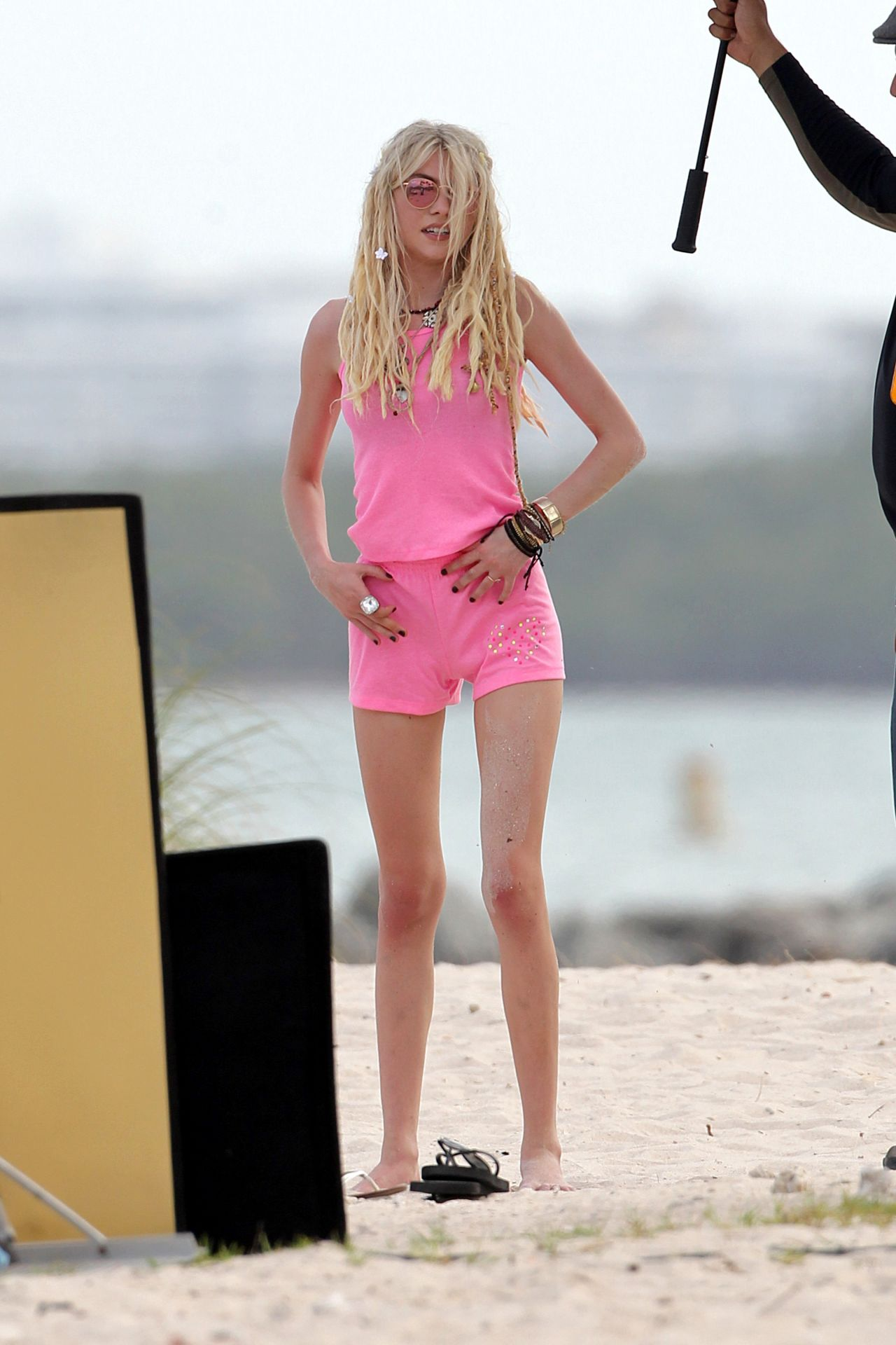 Taylor Momsen At The Beach New Music Video Set Photos
