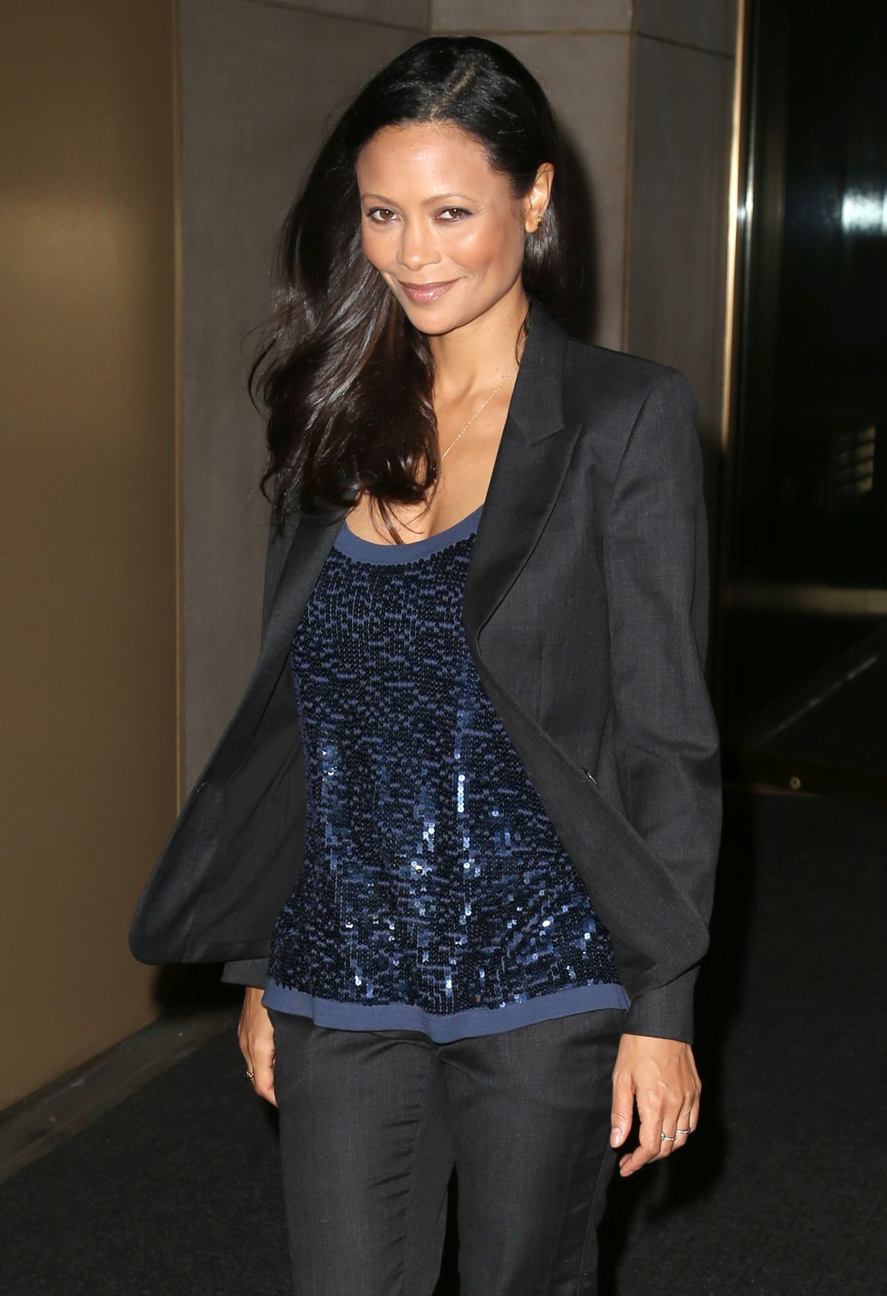 Thandie Newton Leaving the NBC Studios in NYC - May 2014