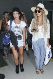 Vanessa Hudgens & Ashley Tisdale at LAX Airport - May 2014