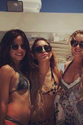Vanessa Hudgens & Ashley Tisdale Bikini Candids - on a Yacht in Miami - May 2014