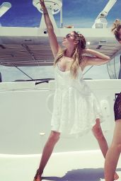 Vanessa Hudgens & Ashley Tisdale Bikini Candids - on a Yacht in Miami - May 2014