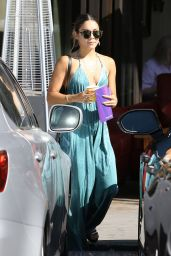 Vanessa Hudgens in Long Dress - Out in Studio City - May 2014