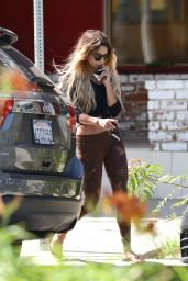 Vanessa Hudgens in Tights - Out in Studio City - May 2014