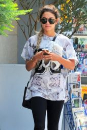 Vanessa Hudgens Wears Leggings - Leaving the Gym in West Hollywood - May 2014