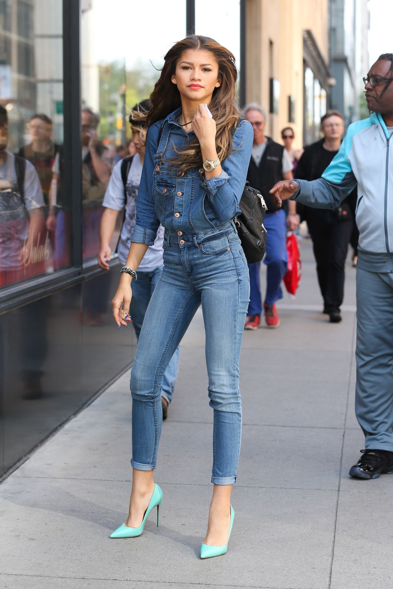 zendaya coleman wearing jeans  out in new york city  may