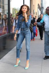 Zendaya Coleman Wearing Jeans - Out in New York City - May 2014