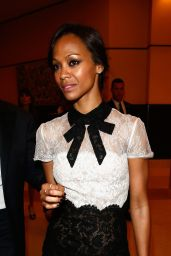 Zoe Saldana Wearing Valentino Dress - Chopard Trophy at 2014 Cannes Film Festival
