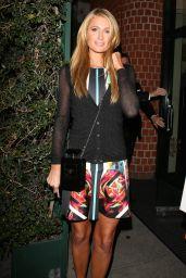 Paris Hilton Night Out Style - Leaves Mr. Chow in Berverly Hills - June 2014