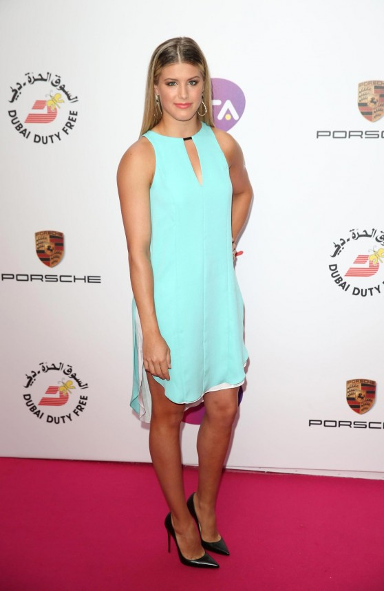 Eugenie Bouchard – 2014 WTA Pre-Wimbledon Party at Kensington Roof Gardens in London