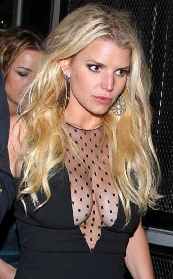 Jessica Simpson Night Out Style - Leaving Warwick Nightclub in Hollywood