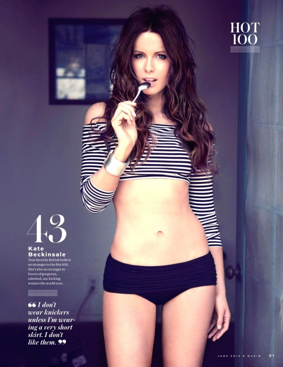 Kate Beckinsale - Hot 100 - Maxim Magazine June 2014