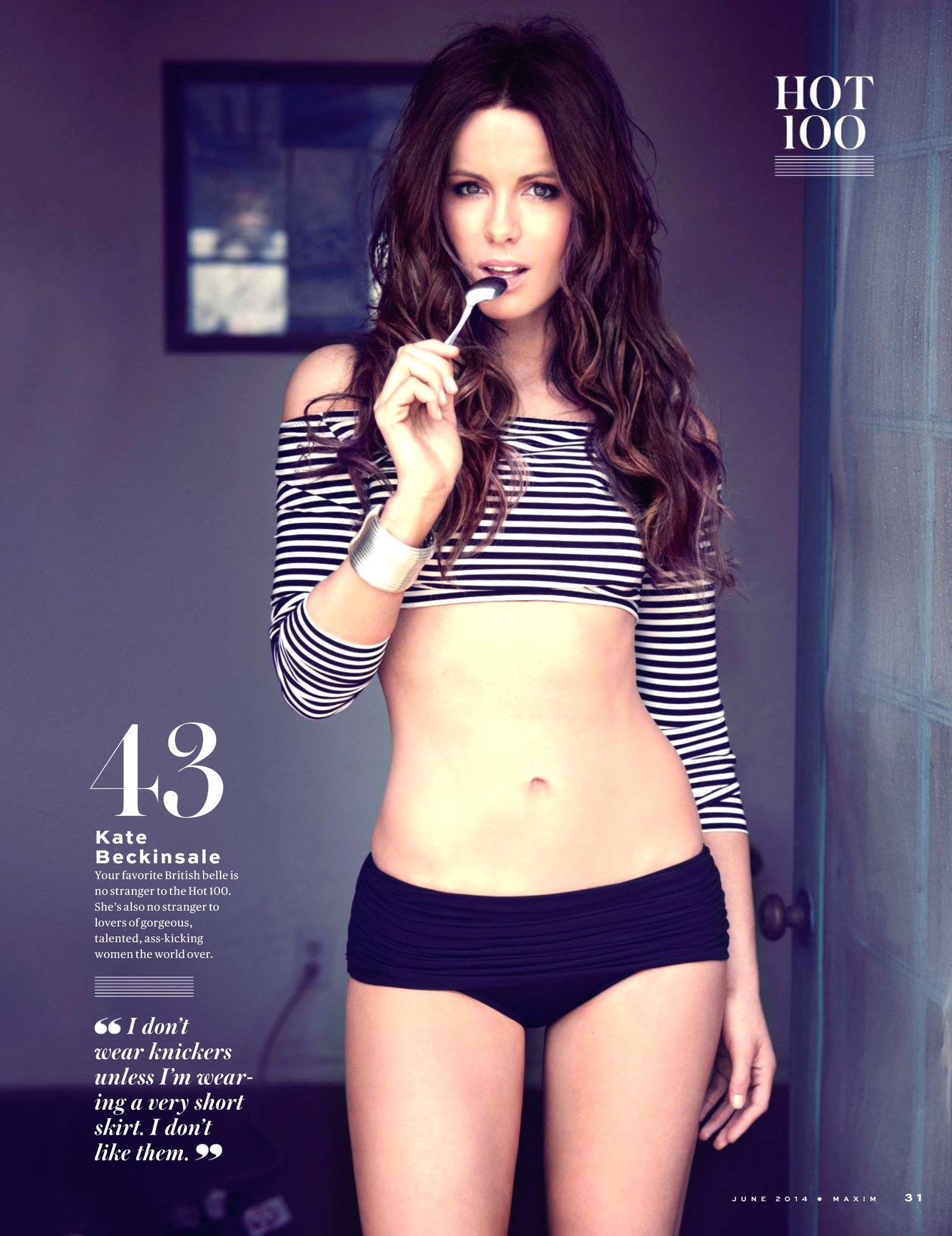 Kate Beckinsale Hot 100 Maxim Magazine June 2014