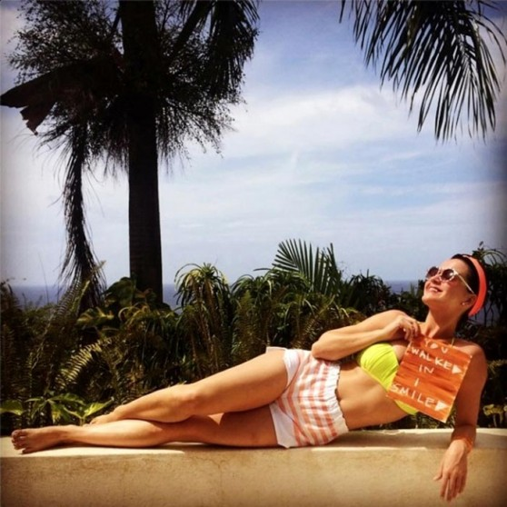 Katy Perry in Shorts - Instagram Photo - June 2014
