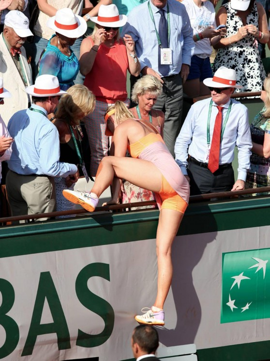 Maria Sharapova After Winning 2014 French Open at Roland Garros