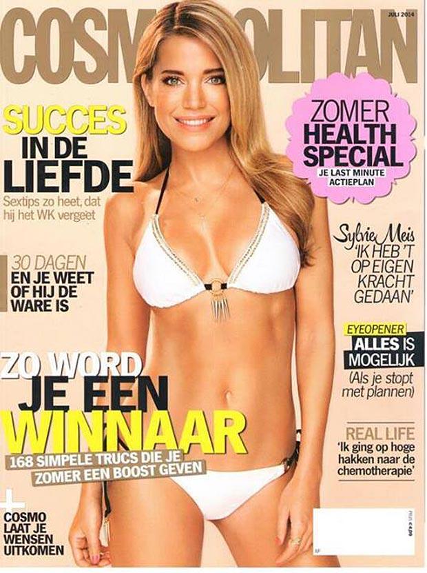 Sylvie Meis In Bikini Cosmopolitan Magazine July 2014 Cover