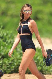 Abbey Clancy Wearing Swimsuit on a Beach in Hawaii - June 2014