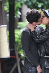 Adele Exarchopoulos Kissing Her Boyfriend in Paris Streets - June 2014