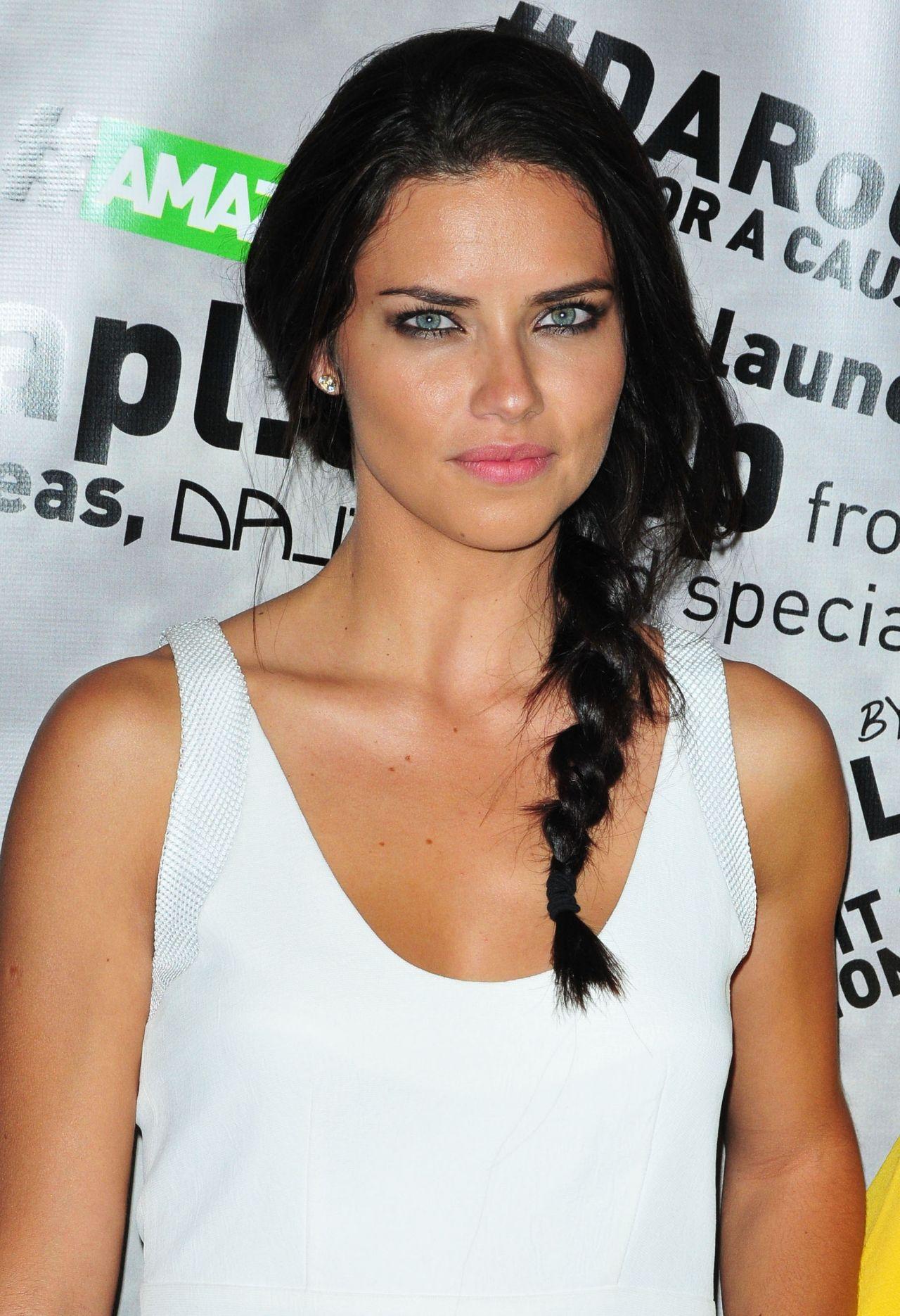 Adriana lima hairstyles 2014 - Adriana Lima Amazonia Beverages Urban Jungle Campaign Kickoff May 2014