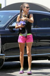 Alessandra Ambrosio - Out For a Workout in Brentwood - May 2014