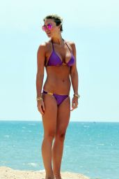 Alex Gerrard in Purple Bikini - Calheta Beach in Portugal, June 2014