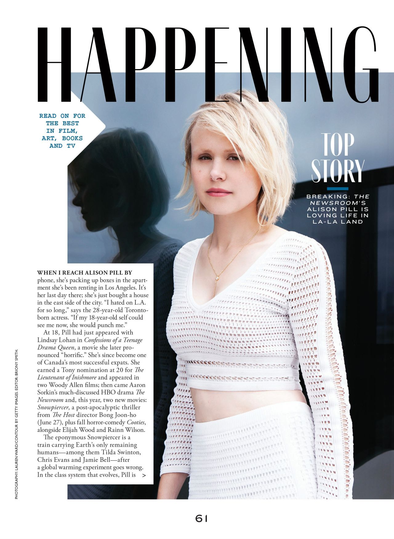 Alison Pill - Flare Magazine (Canada) - July 2014 Issue