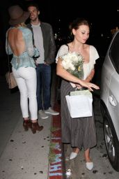 Alyson & Amanda AJ Michalka Night Out Style - Pikey Bar in Hollywood