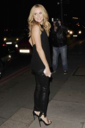 Amanda Holden Night Out Style - Arriving at the Red Bar in London - June 2014