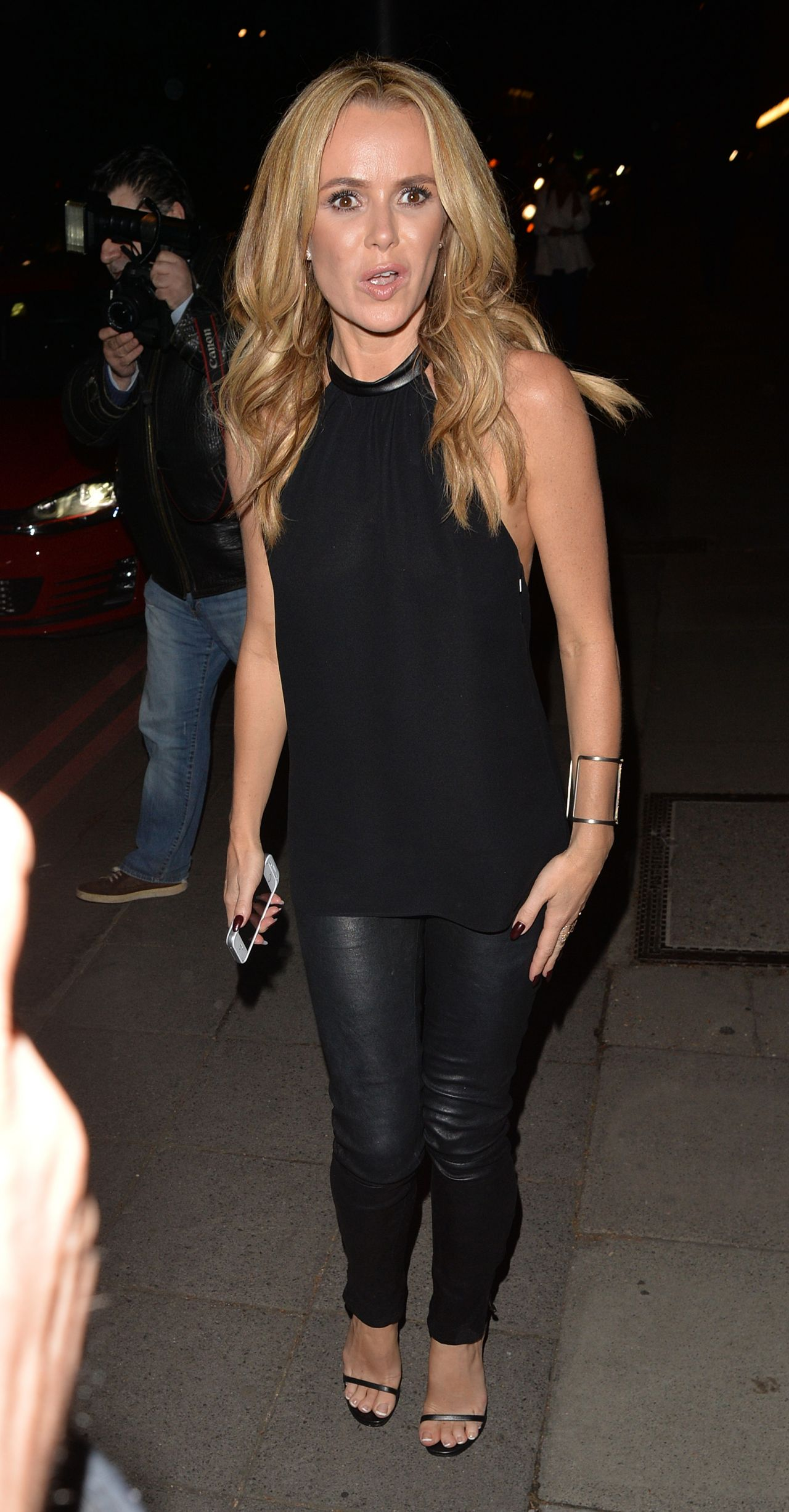 Amanda Holden Night Out Style Arriving At The Red Bar In