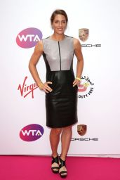 Andrea Petkovic in Leather Dress - WTA Pre-Wimbledon 2014 Party in London