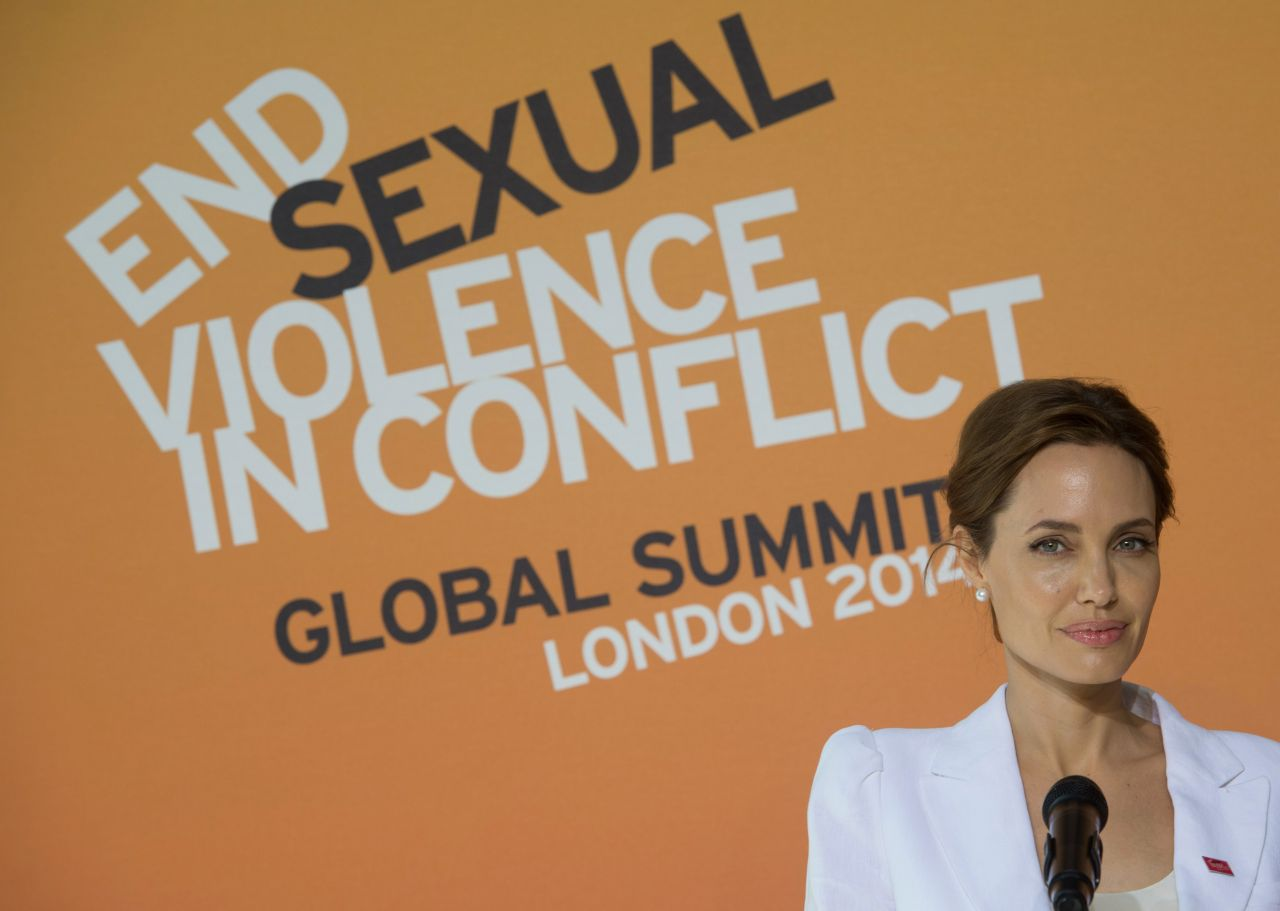 ... Jolie - Global Summit to End Sexual Violence in Conflict - June 2014: http://celebmafia.com/angelina-jolie-global-summit-end-sexual-violence-conflict-june-2014-128247/