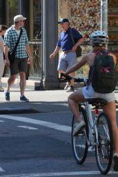AnnaSophia Robb Riding a Bike in New York City - June 2014