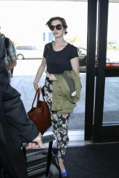 Anne Hathaway at LAX Airport in Los Angeles - June 2014