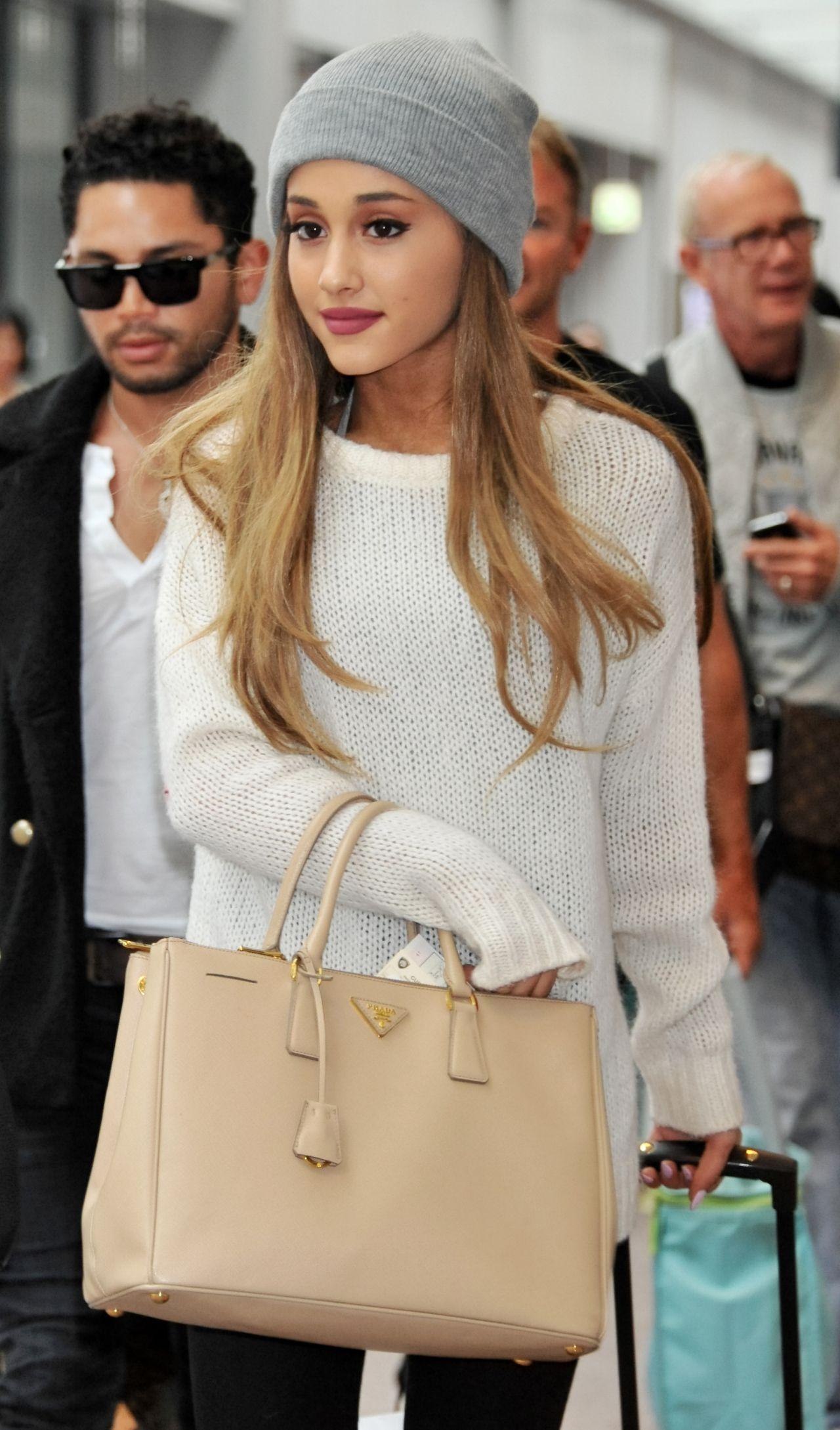 Ariana Grande At Narita International Airport In Tokyo