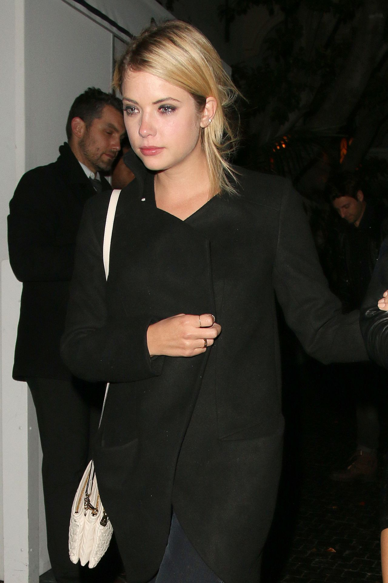 Ashley Benson Night out Style - Leaving Chateau Marmont in West Hollywood - June 2014