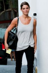 Ashley Greene Casual Style - Arriving at the Sky Bar in West Hollywood - June 2014