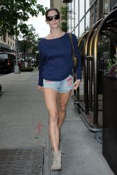 Ashley Greene in Denim Shorts - Out in NYC - June 2014