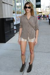 Ashley Greene Leggy - Out in NYC, June 2014