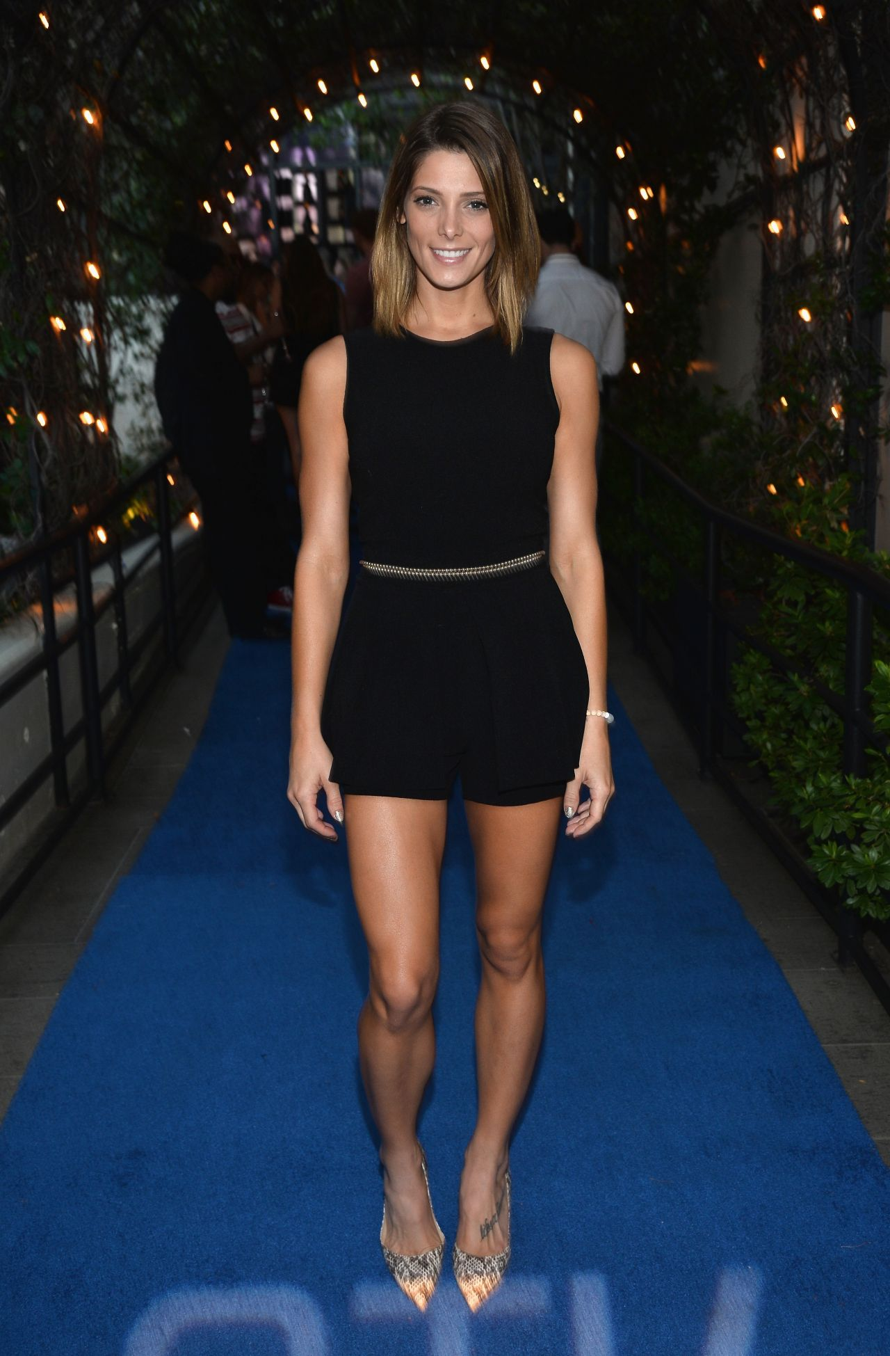 Ashley Greene Shows Legs At The Stk Los Angeles 2014 Party