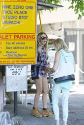 Ashley Tisdale in Shorts - Leaving Nine Zero One Salon in West Hollywood - May 2014