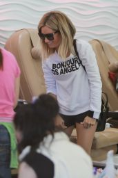 Ashley Tisdale in Shorts - Out in West Hollywood - June 2014