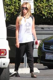 Ashley Tisdale Sticks Her Tounge out at The Paps in Los Angeles - May 2014