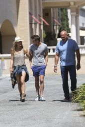 Bar Refaeli With Family in Los Angeles - June 2014