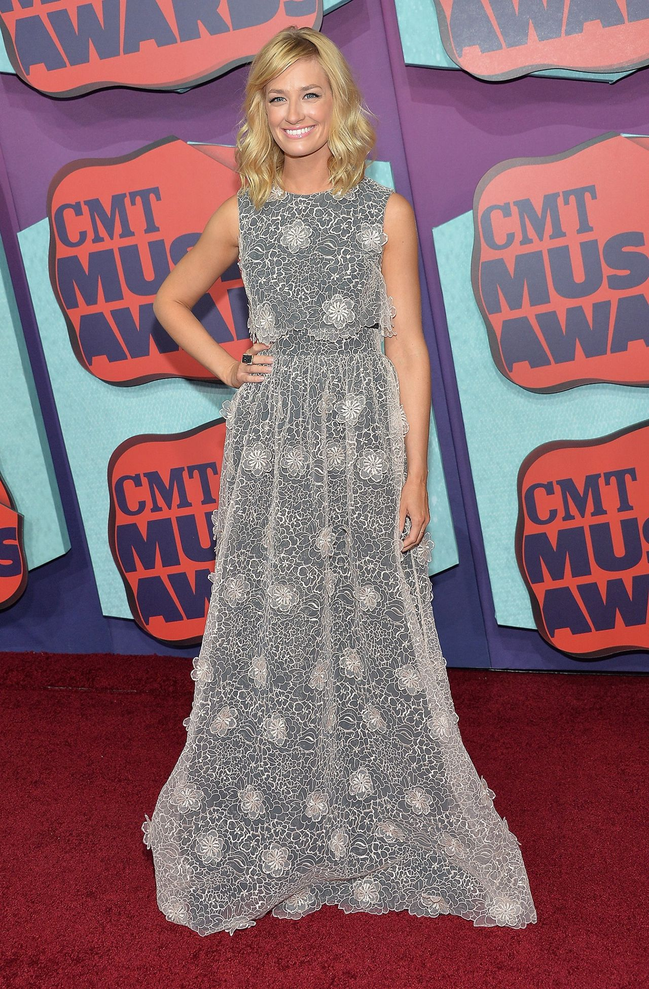 Beth Behrs Wearing Erin Fetherston Gown - 2014 CMT Music Awards