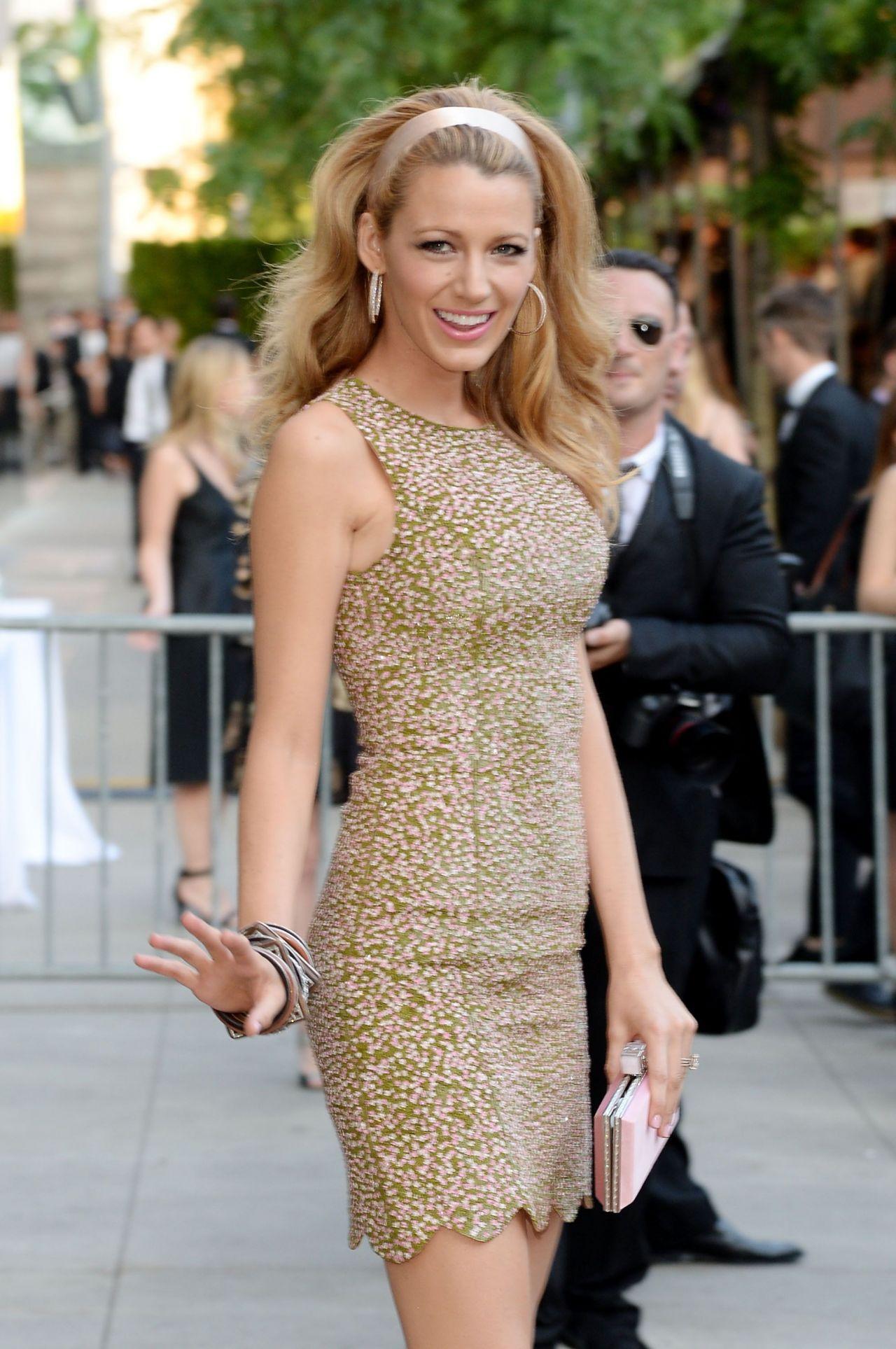Blake Lively Wearing Michael Kors Dress 2014 Cfda