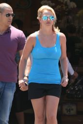 Britney Spears in Shorts - Out in Los Angeles - June 2014