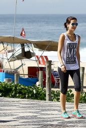 Camilla Belle in Tights While Out in Brazil - May 2014